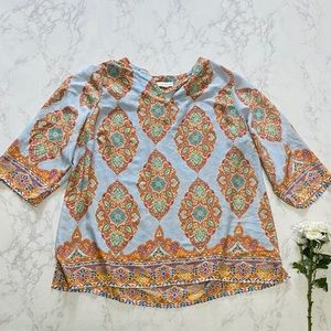 Cynthia Rowley paisley bright tunic top 3x 20 22